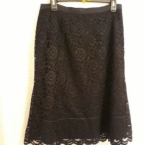 Gorgeous Black Old Navy Lace Skirt